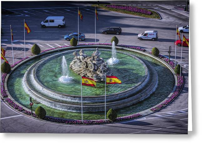 Roundabout Greeting Cards - Fountain of Cebeles II Greeting Card by Joan Carroll