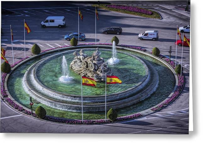 Fountain Of Cebeles II Greeting Card by Joan Carroll