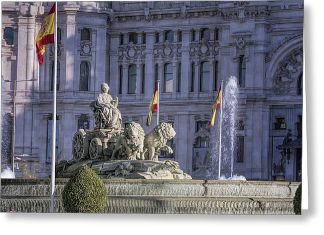 Goddess Art Greeting Cards - Fountain of Cibeles Greeting Card by Joan Carroll