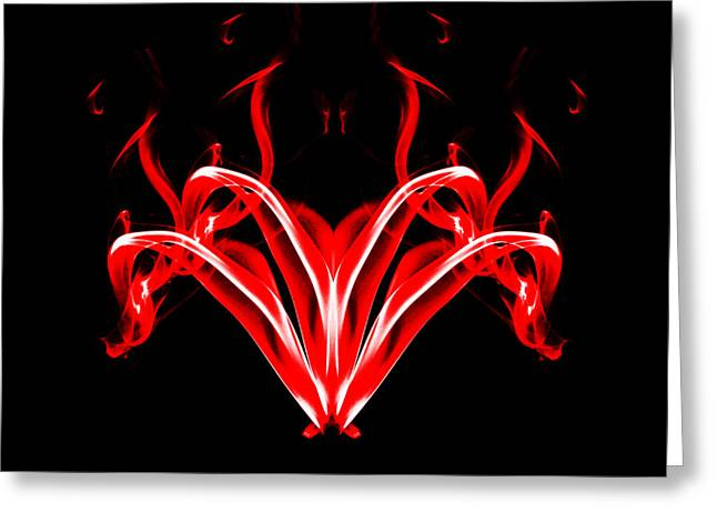 Algorithmic Photographs Greeting Cards - Fountain of Fire Greeting Card by Steve Purnell