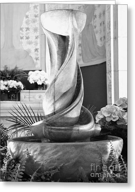 Fountain Of Holy Water Greeting Card by Kathleen Struckle
