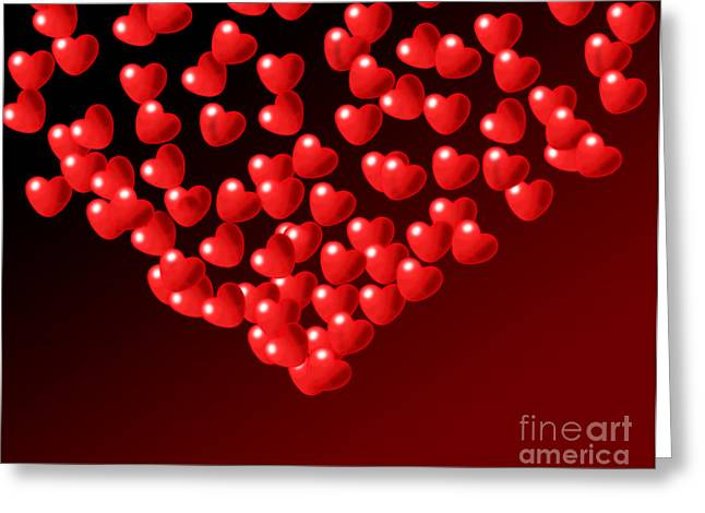 Liebe Greeting Cards - Fountain of Love Hearts Greeting Card by Kiril Stanchev
