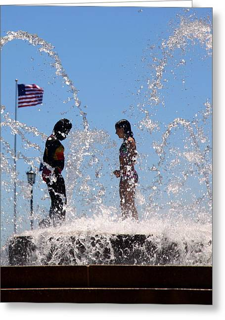 Fountain Of Youth Greeting Card by Karen Wiles