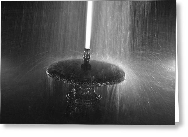 Bill Mock Greeting Cards - Fountain Spray Greeting Card by Bill Mock