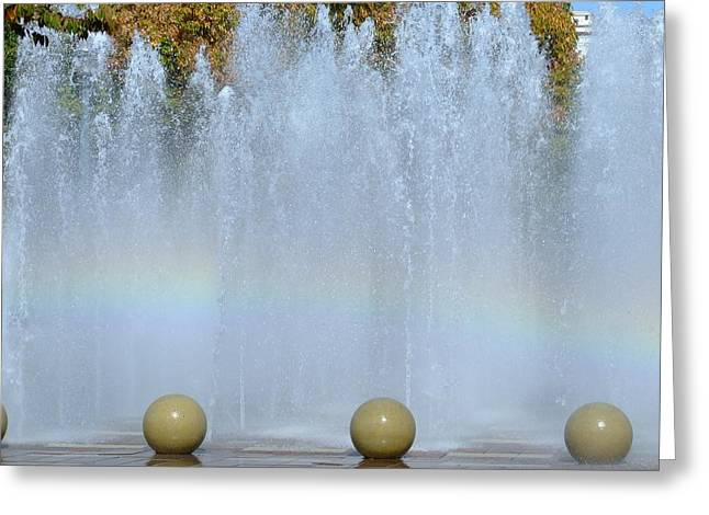 Stockton Greeting Cards - Fountain Square Greeting Card by Joe Bledsoe