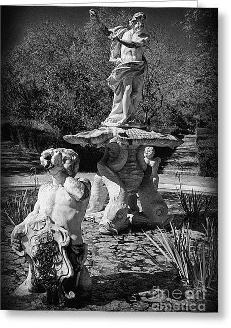 Day Lilly Greeting Cards - Fountain with King Neptune and Tritons Greeting Card by Jose Elias - Sofia Pereira