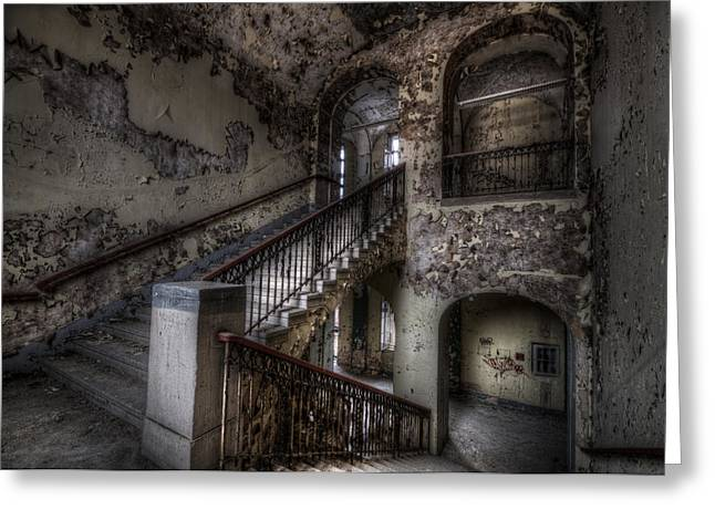 Empty Building Greeting Cards - Four arches Greeting Card by Nathan Wright