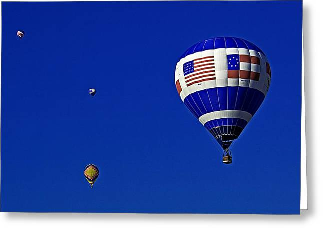 Hot Air Balloon Greeting Cards - Four balloons up Greeting Card by Andy Crawford