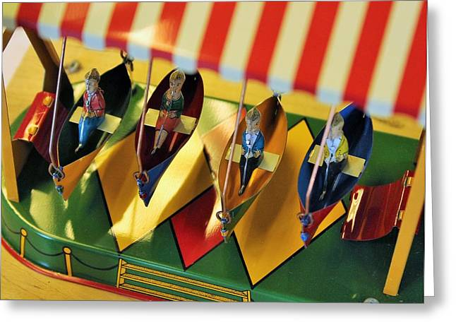 Toy Boat Greeting Cards - Four Toy Boats Greeting Card by Karl Anderson