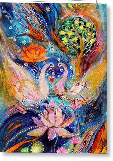 Four Elements Water Greeting Card by Elena Kotliarker