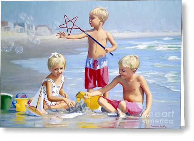 Sailboat Ocean Greeting Cards - Four Five and Six Greeting Card by Candace Lovely