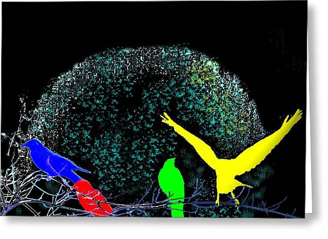 Discrimination Digital Art Greeting Cards - Four Freinds Greeting Card by Candice Floyd