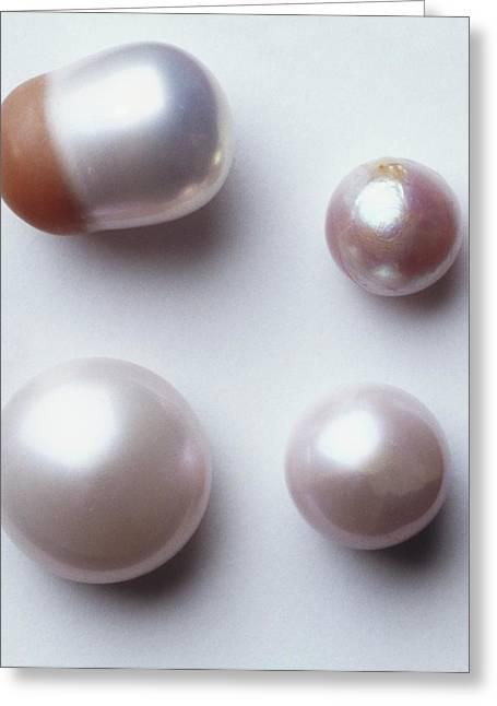 Four Fresh Water Pearls Greeting Card by Dorling Kindersley/uig