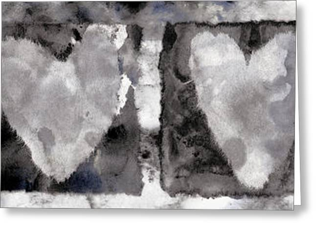 Torn Greeting Cards - Four Hearts Greeting Card by Carol Leigh
