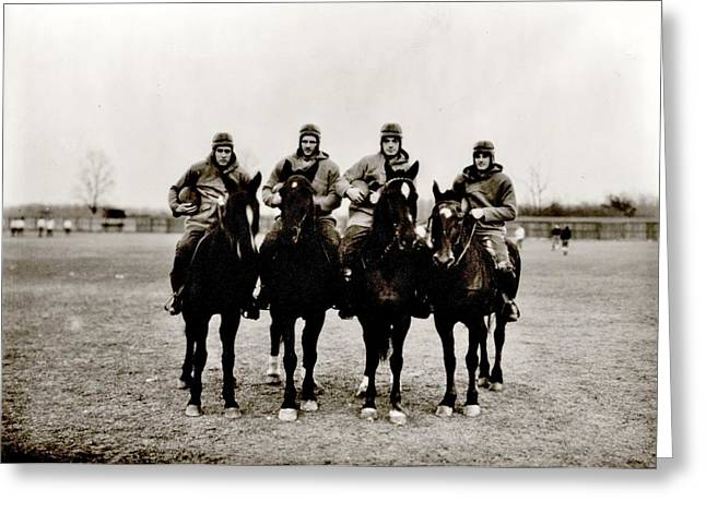 College Football Greeting Cards - Four Horsemen Greeting Card by Benjamin Yeager
