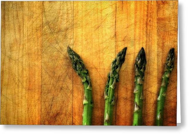 Ingredients Digital Art Greeting Cards - Four in a Row Greeting Card by Michelle Calkins