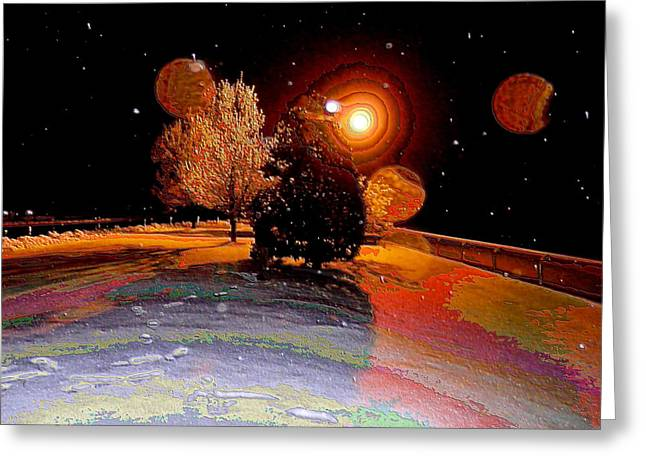 Keeneland Greeting Cards - Four Moons at Keeneland Greeting Card by Christopher Hignite