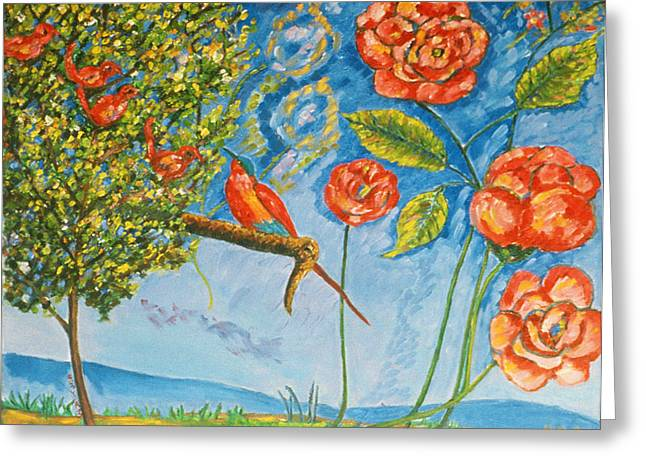 Roses Greeting Cards - Four of a Kind Greeting Card by Patricia Eyre