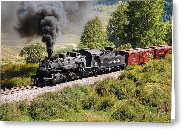 Narrow Gauge Greeting Cards - Four Percent Grade Part 1 Greeting Card by Ken Smith