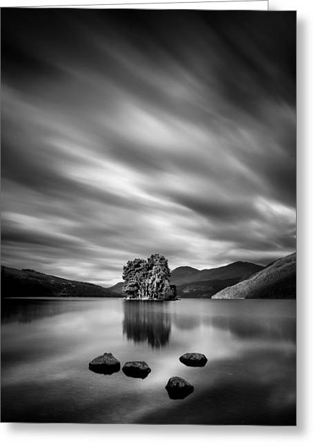 Monochrome Greeting Cards - Four Rocks Greeting Card by Dave Bowman