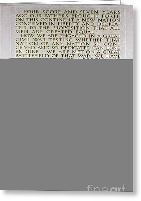 Four Score Greeting Cards - Four Score and Seven Years...... Greeting Card by Allen Beatty