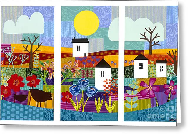 Carla Bank Greeting Cards - Four seasons Greeting Card by Carla Bank