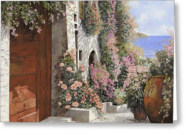 Four Seasons Greeting Cards - four seasons- spring in Tuscany Greeting Card by Guido Borelli