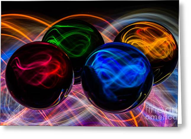 Hallucination Greeting Cards - Four Souls Greeting Card by Eric Hartman