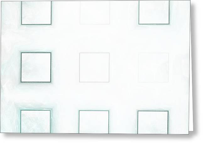 Mind-bending Greeting Cards - Four Squares Greeting Card by Jeff Iverson