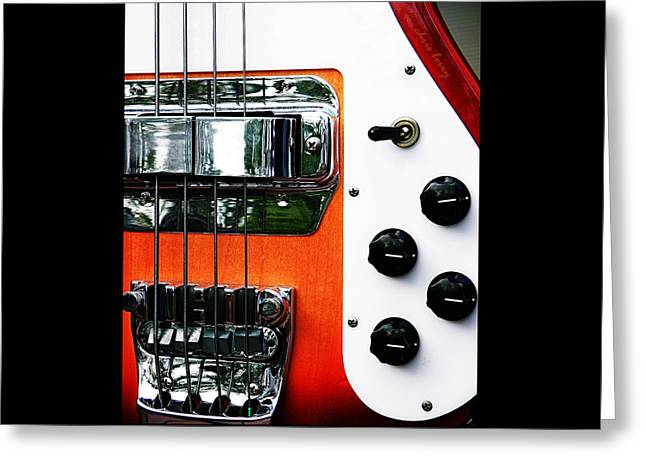 Four String Rickenbacker Bass  Greeting Card by Chris Berry