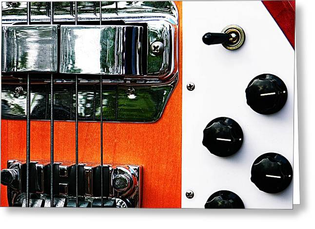 Hardware Greeting Cards - Four String Rickenbacker Bass  Greeting Card by Chris Berry