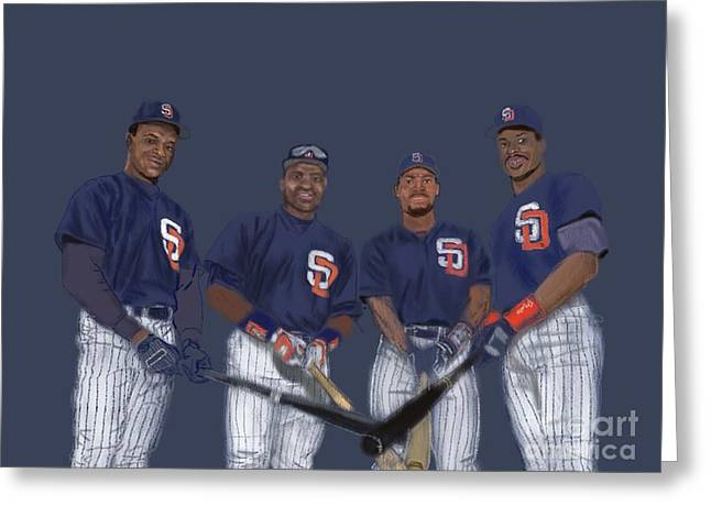 San Diego Padres Stadium Digital Art Greeting Cards - Four Tops Greeting Card by Jeremy Nash
