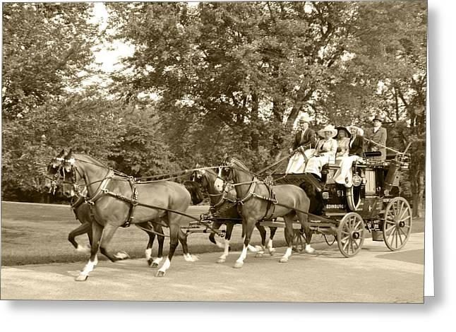 Four wheel cart large family Greeting Card by Wayne Sheeler