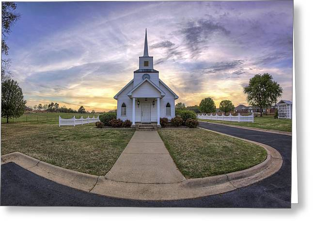 Conway Arkansas Greeting Cards - Four Winds Chapel at Sunset - Arkansas - Conway Greeting Card by Jason Politte