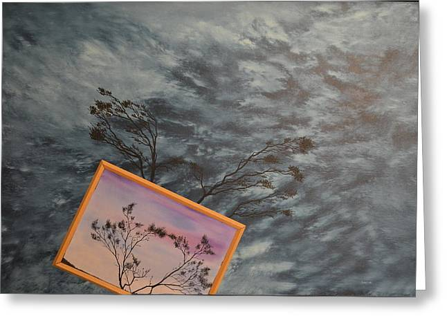 Turbulent Skies Paintings Greeting Cards - Four Winds of Change Greeting Card by Stuart Engel
