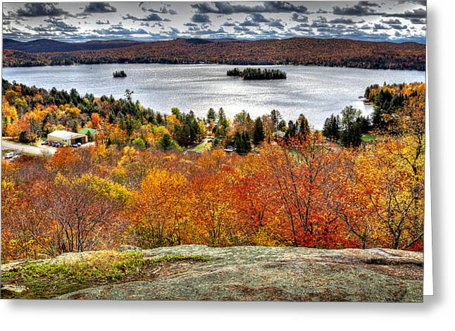 Fourth Lake From Above Greeting Card by David Patterson