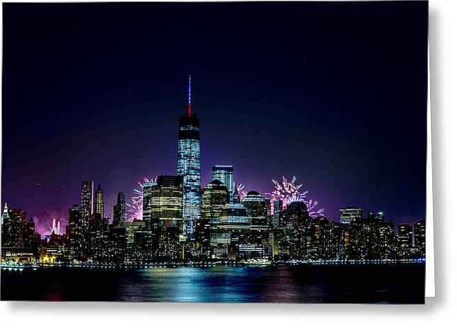 Brooklyn Promenade Greeting Cards - Fourth of July 2014 Greeting Card by D Plinth