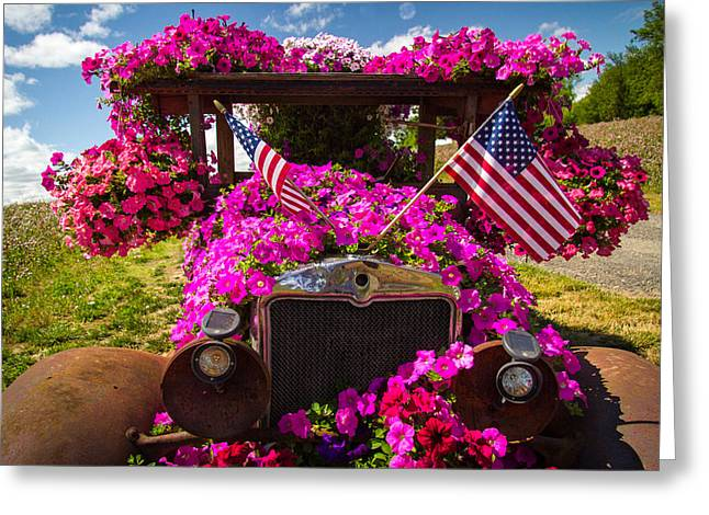 Ostentatious Greeting Cards - Fourth of July color Greeting Card by Jean Noren
