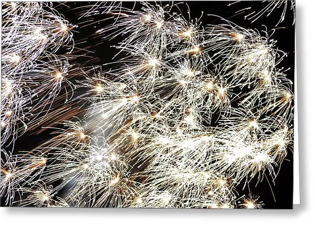 4th July Photographs Greeting Cards - Fourth of July Fireworks Greeting Card by Kim Bemis