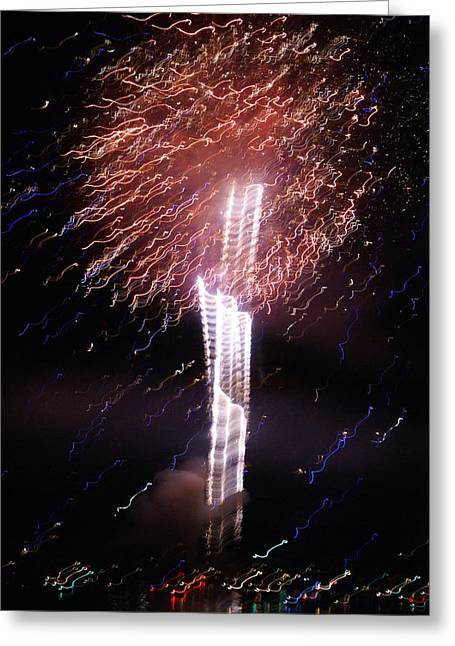 Fourth Of July Grand Lake Co 2007 Greeting Card by Jacqueline Russell