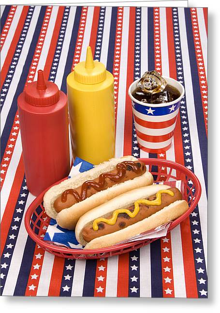 4th July Photographs Greeting Cards - Fourth of July hotdogs Greeting Card by Joe Belanger