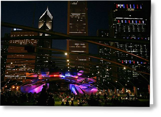Fireworks. Kites Greeting Cards - Fourth Of July In Chicago Greeting Card by Paul Szakacs