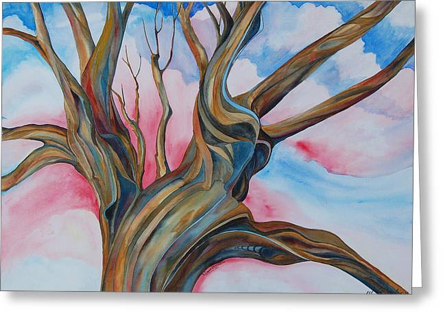 Rderder Greeting Cards - Fourth of July - the Happy Tree Greeting Card by Roy Erickson