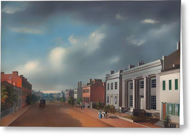 Fourth Street East From Vine Greeting Card by Mountain Dreams