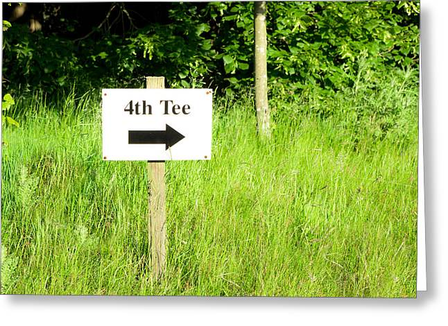 4th Greeting Cards - Fourth tee Greeting Card by Tom Gowanlock