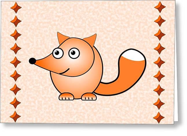 Little Boy Mixed Media Greeting Cards - Fox - Animals - Art for Kids Greeting Card by Anastasiya Malakhova