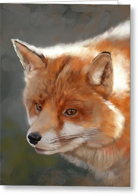 Clever Greeting Cards - Fox Greeting Card by Arie Van der Wijst
