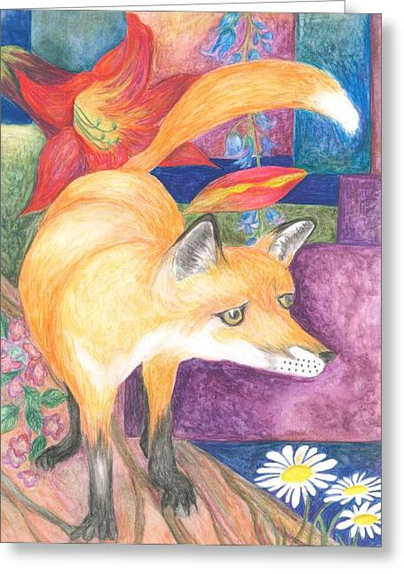 Cherie Sexsmith Greeting Cards - Fox Greeting Card by Cherie Sexsmith