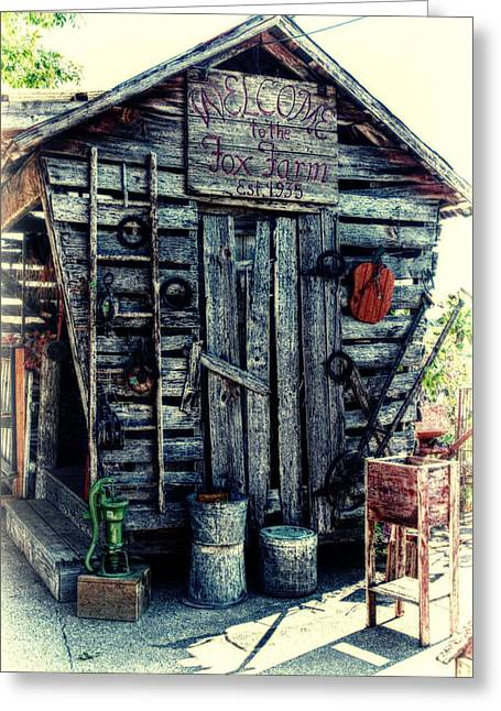 Historic Site Mixed Media Greeting Cards - Fox Farm Greeting Card by Todd and candice Dailey