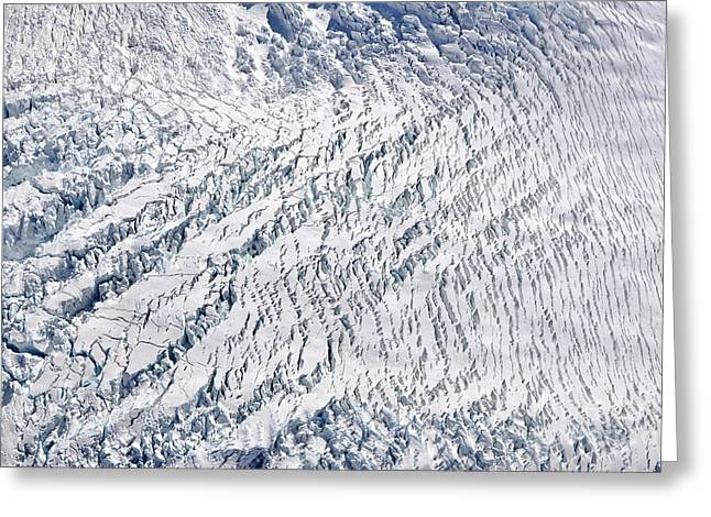 Crevasses Greeting Cards - Fox glacier 2 Greeting Card by Delphimages Photo Creations